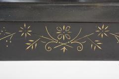 Black Marble Ansonian Mantel Desk Clock - 2107471