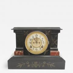 Black Marble Ansonian Mantel Desk Clock - 2109301