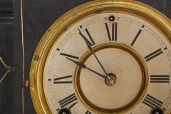 Black Marble Gilt Ansonian Mantel Desk Clock - 2107457