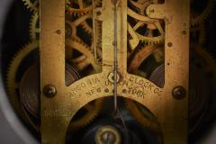 Black Marble Gilt Ansonian Mantel Desk Clock - 2107458