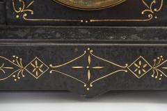 Black Marble Gilt Ansonian Mantel Desk Clock - 2107459