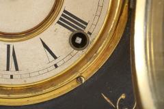 Black Marble Gilt Ansonian Mantel Desk Clock - 2107460