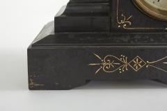 Black Marble Gilt Ansonian Mantel Desk Clock - 2107461
