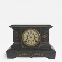 Black Marble Gilt Ansonian Mantel Desk Clock - 2109300