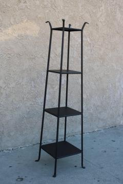 Black Metal Etagere with Graduated Shelves - 361383
