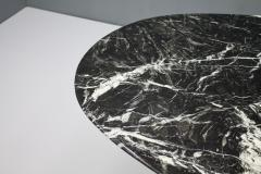 Black Oval Marble Dining Table Italy 1970s - 1135643