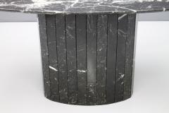 Black Oval Marble Dining Table Italy 1970s - 1135645