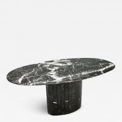 Black Oval Marble Dining Table Italy 1970s - 1136788