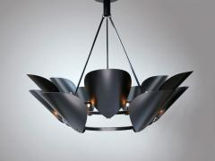 Black Petal Chandelier - 967538