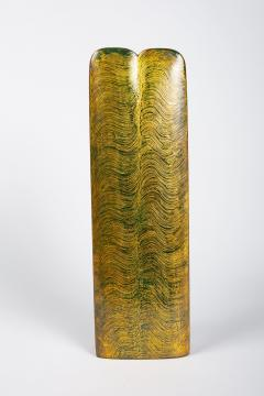 Black and Gold Lacquer Vase - 1353948