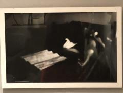 Black and White Silver Gelatin Print of a reclining man in shadows - 1063648