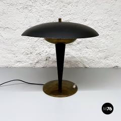 Black metal table lamp 1930s - 2034589