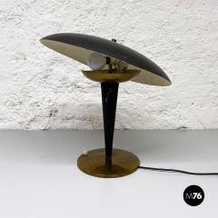 Black metal table lamp 1930s - 2034590