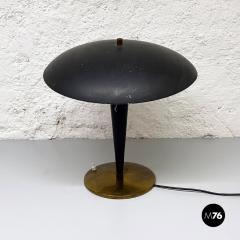 Black metal table lamp 1930s - 2034592