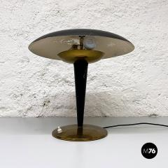 Black metal table lamp 1930s - 2034593
