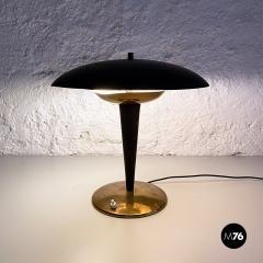 Black metal table lamp 1930s - 2034602