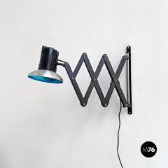 Black pantograph wall lamp 1970s - 2102680