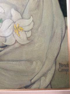 Blendon Reed Campbell Art Nouveau Beauty with Lilies - 1579636