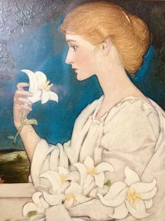 Blendon Reed Campbell Art Nouveau Beauty with Lilies - 1579637
