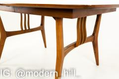 Blowing Rock Mid Century 10 Person Walnut Surfboard Dining Table - 1869650