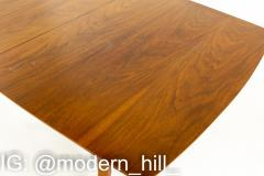 Blowing Rock Mid Century 10 Person Walnut Surfboard Dining Table - 1869652