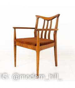 Blowing Rock Mid Century Walnut Dining Chairs Set of 6 - 1810437