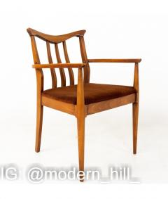 Blowing Rock Mid Century Walnut Dining Chairs Set of 6 - 1810439