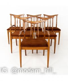 Blowing Rock Mid Century Walnut Dining Chairs Set of 6 - 1810441