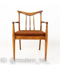 Blowing Rock Mid Century Walnut Dining Chairs Set of 6 - 1810450