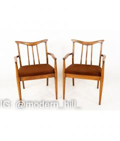 Blowing Rock Mid Century Walnut Dining Chairs Set of 6 - 1810451