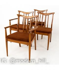 Blowing Rock Mid Century Walnut Dining Chairs Set of 6 - 1810452