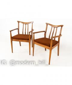 Blowing Rock Mid Century Walnut Dining Chairs Set of 6 - 1810453