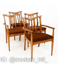 Blowing Rock Mid Century Walnut Dining Chairs Set of 6 - 1810454
