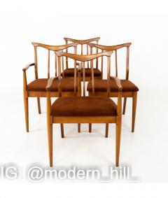 Blowing Rock Mid Century Walnut Dining Chairs Set of 6 - 1810463