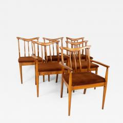 Blowing Rock Mid Century Walnut Dining Chairs Set of 6 - 1812774