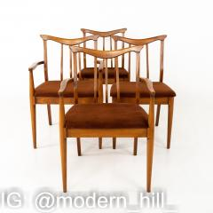 Blowing Rock Mid Century Walnut Dining Chairs Set of 6 - 1870079