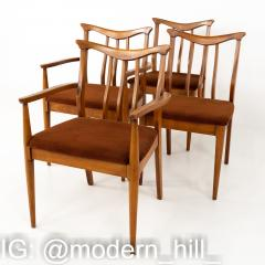 Blowing Rock Mid Century Walnut Dining Chairs Set of 6 - 1870080
