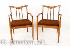 Blowing Rock Mid Century Walnut Dining Chairs Set of 6 - 1870082
