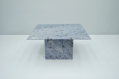 Blue Granite Side Table 1970s Stone Marble - 1775016