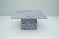 Blue Granite Side Table 1970s Stone Marble - 1775017