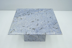 Blue Granite Side Table 1970s Stone Marble - 1775018