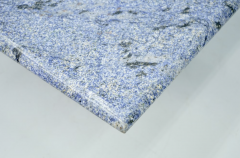 Blue Granite Side Table 1970s Stone Marble - 1775019