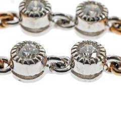 Blue Topaz Mother of Pear Diamond Gold Bracelet - 389407
