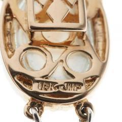 Blue Topaz Mother of Pear Diamond Gold Bracelet - 389412