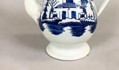 Blue White Pearlware 18th century Coffee Pot - 1702170