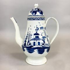 Blue White Pearlware 18th century Coffee Pot - 1702171