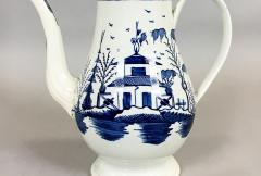 Blue White Pearlware 18th century Coffee Pot - 1702172