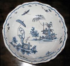 Blue and White Bowl with Chinoiserie Landscape - 308020