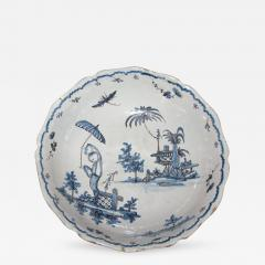 Blue and White Bowl with Chinoiserie Landscape - 308391