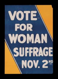 Blue and Yellow Suffrage Movement Poster - 636738